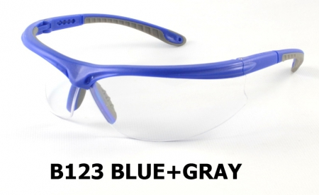 B123 Blue+Gray Safety Sport Eyewear