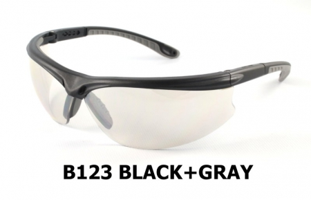 B123 Black+Gray Safety glasses