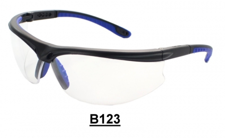 B123 Black+Blue Safety glasses