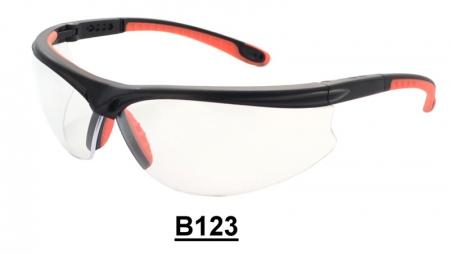 B123 Black+Orange Safety glasses