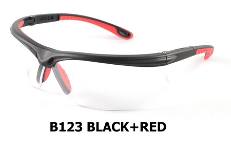 B123 Black+Red Safety Sport Eyewear
