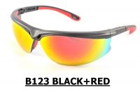 B123 Black+Red Safety Sport Eyewear