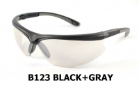 B123 Black+Gray lentes de seguridad