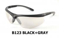 B123 Black+Gray Safety glasses