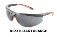 B123 Black+Orange Safety glasses