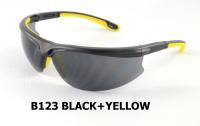B123 Black+Yellow Safety glasses