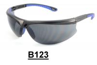 B123 Black+Blue Safety glasses
