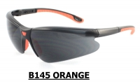 B145 Orange Safety glasses